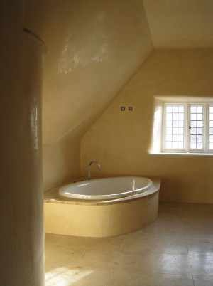 Venetian Plaster - Cottage Bathroom
